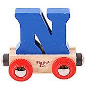 Bigjigs Rail Rail Name Letter N (Dark Blue)