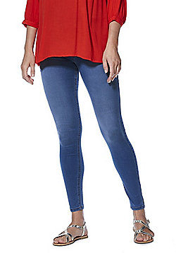 F&F Over-Bump Maternity Jeggings - Mid Wash