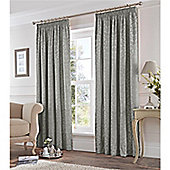 Fusion Eastbourne Pencil Pleat Curtains - Silver