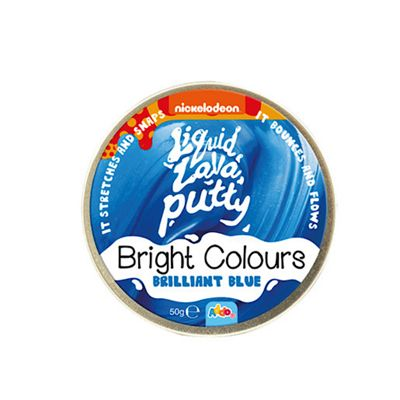 Nickelodeon Liquid Lava Putty Bright Colours Brilliant Blue