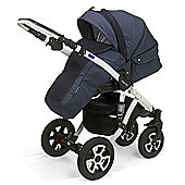 Mee-Go Milano Sport Chassis Pushchair-Heritage Blue (White Chassis)