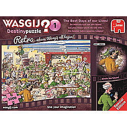 Wasgij Retro Destiny 1 'The Best Days of Our Lives' - 1000 Piece Jigsaw Puzzle