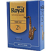 Rico Royal 2 1/2 Tenor Sax Reed (x10)