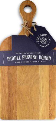 Occasion Classic Oak Small Paddle Serving Board