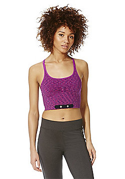F&F Active Space Dye Heart Rate Monitor Crop Top - Pink