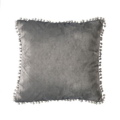 Slate Malia Soft Velvet Cushion 24