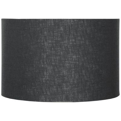 45cm Black Double Lined Linen Drum Shade