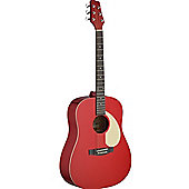 Stagg SA30D Acoustic Dreadnough Guitar - Apple Red