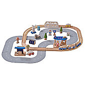 EverEarth Wooden Toy Eco City Train Set