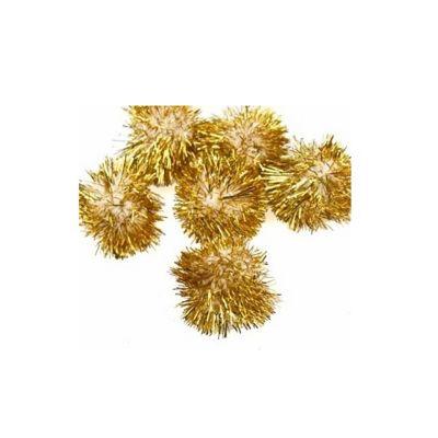Impex Gold Glitter Pom Poms 0.5 Inches