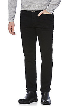 F&F Stretch Slim Fit Jeans with Belt - Black