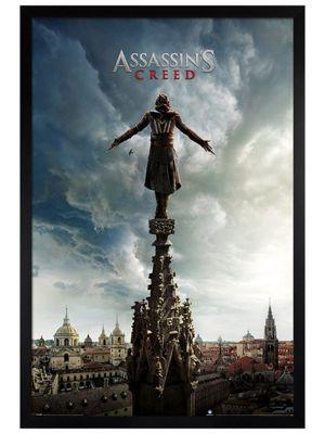 Assassin's Creed Black Wooden Framed Spire Teaser Poster 61x91.5cm