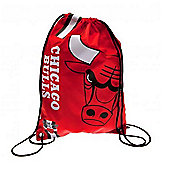 NBA Basketball Chicago Bulls Cropped Logo Drawstring Backpack 49x34x1.5cm