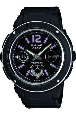 Casio Computer BGA150/1BER Baby-G Alarm Chronograph Watch Black
