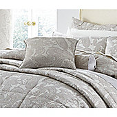 Catherine Lansfield Opulent Jacquard Champagne Cushion Cover 43x43cm
