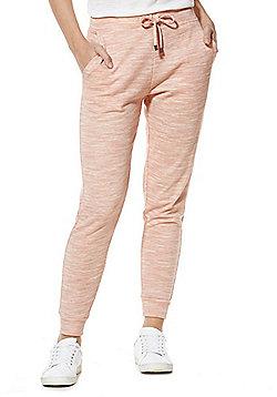 F&F Marl Cuffed Joggers - Pink marl