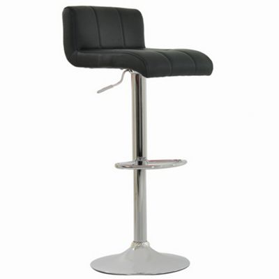 Neptune Black Padded Seat Bar Stool