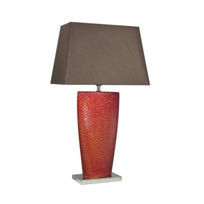 Terracotta Bahama Table Lamp with Chocolate Shade