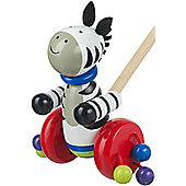 Orange Tree Toys Push Along Wooden Toy - Zebra