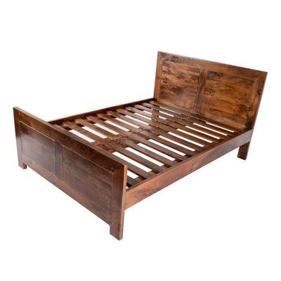 Homescapes Dark Shade Dakota King Size Bed Frame