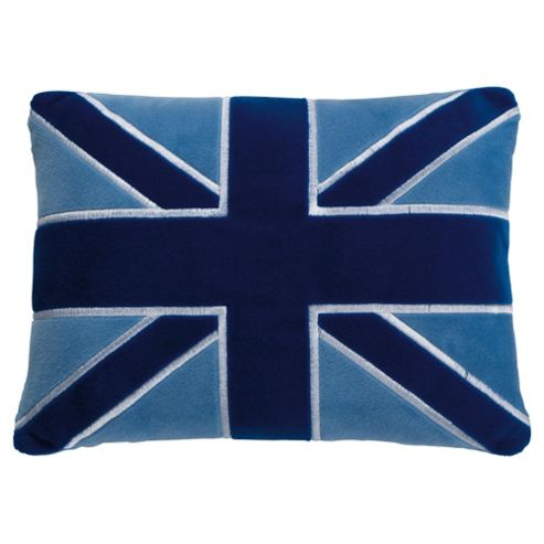 Kids Blue Union Jack Cushion