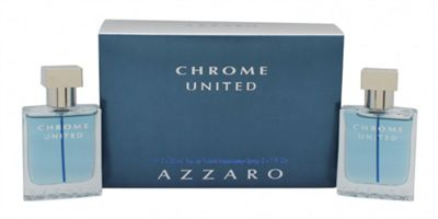 Azzaro Chrome United Gift Set 2 x 30ml EDT Spray For Men