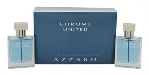 Azzaro Chrome United Gift Set 2 x 30ml EDT Spray For Men