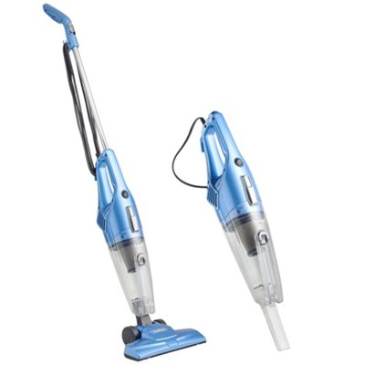VonHaus 2 in 1 Vacuum Cleaner - 600W Upright Stick & Handheld with HEPA and Sponge Filtration & FREE Crevice Tool - Blue