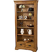 French Chateau Rustic Solid Oak Large Bookcase