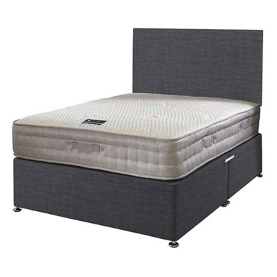 Happy Beds Bamboo Vitality 2000 Divan Bed Set No Drawer 2ft6 Charcoal