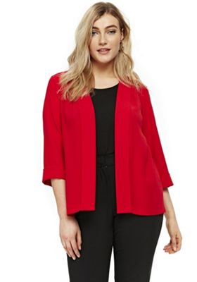 Evans Soft Plus Size Jacket Red 22