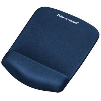 Fellowes 9287302 Blue mouse pad PlushTouch Mousepad Wrist Support -