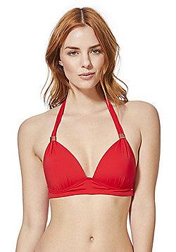 F&F Shaping Swimwear Halterneck Bikini Top - Red