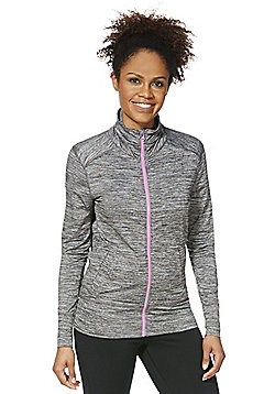 F&F Active Marl Zip-Through Jacket - Grey