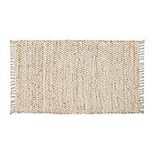 Homescapes Horizon Neutral Chevron Hemp Chindi Rug, 120 x 170 cm