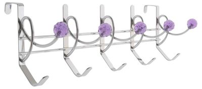 10 Coat Hook Hanger - Purple