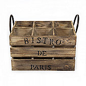 Cult Living Bistrot de Paris Vintage Style Wine Crate Brown