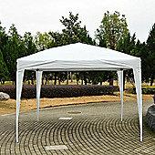 Outsunny 3 x 3m Garden Pop Up Gazebo Foldable Canopy UV Protection + Carry Bag (White)