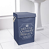 Country Club Deluxe Laundry Hamper, Blue