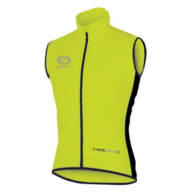 Optimum Nitebrite Mens Lightweight Hi-Vis Running Cycling Gilet Yellow - XL