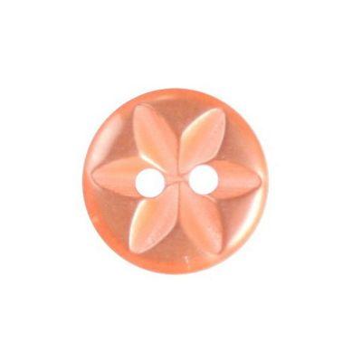 Hemline Round Star Orange Buttons 16.25mm 6pk