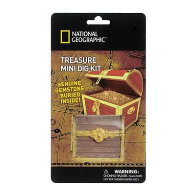 National Geographic Carded Treasure Mini Dig Kit
