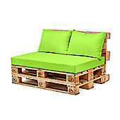 Lime Back Fibre Printed Pallet Cushions Hollowfibre Garden Patio