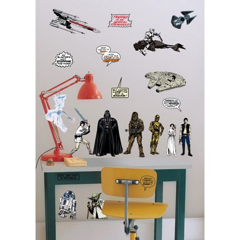 Star Wars 2 x Sheets Wall Stickers