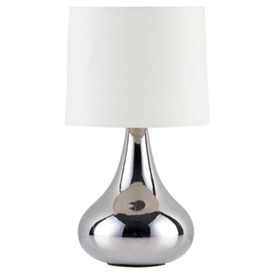 Tesco Lighting Havana Ceramic Table Lamp Silver