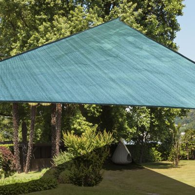 Outsunny Sun Shade Sail UV Resistant Canopy Shade Awning w/ Portable Bag (Triangle 3m, Green)