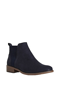 F&F Faux Suede Chelsea Boots - Navy