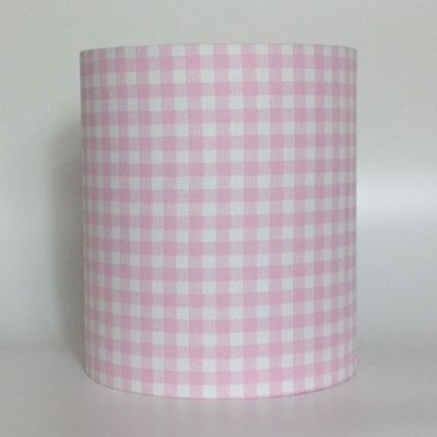 Pink Gingham, Medium Fabric Light Shade