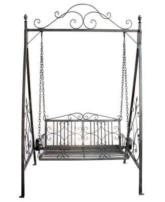 Buy Bentley Garden Wrought Iron Grey Outdoor Swing Seat From Our