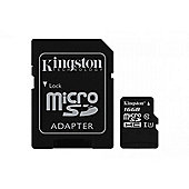 Kingston 16GB UHS-1 (U1) Micro SD Memory Card for Phone / Tablet / Camera